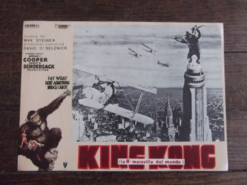 King Kong, Spanish Advert, Kong on Empire State Building, Planes, circa 60s
